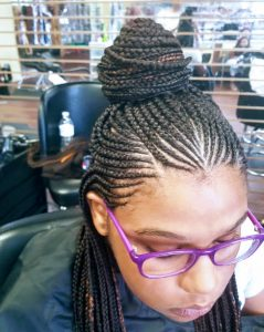 Anderson Braided Hair Styles with Bun